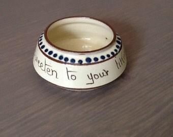 Devon motto ware sugar bowl