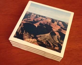 Set of 4 Handmade Tile Coasters: Grand Canyon