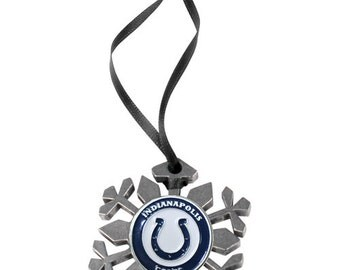 Indianapolis Colts Snowflake Christmas Ornament