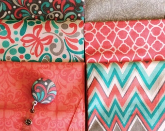 Retractable Badge Holder with Custom Fabric Cover