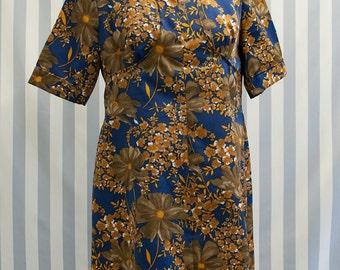 Vintage Dress with Floral Print
