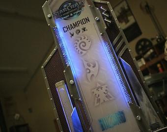 Custom Metal Trophy with LED Lights