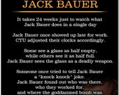 All I Need To Know I Learned From Jack Bauer - Big 10 Inch Magnet - CTU 24 Keifer Sutherland Humor Parody #2388