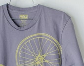 OOPS Large Men's Fixie Tee, Yellow on Slate 0161