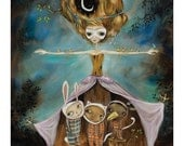 Mother Nature: Protecting Fauna - Pop Surrealism Fine Art Print - by Heather Renaux-unframed