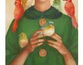 Ladybirds.  Art Print.