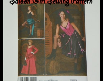 Saloon Girl Costume Sewing Pattern