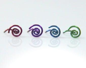 Spiral Niobium Nose Ring