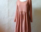 Vintage Dress - Immaculate Handmade Pink & Green Checked - Women's M