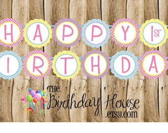 Wonderland Birthday Party Banner - Custom Party Banner by The Birthday House