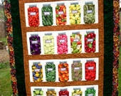 Comfort Food Canning Jar Small Quilt