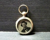 Tiny Antique Victorian Locket - Old Photos - 1860s - Antique Jewelry - Pocket Watch Style