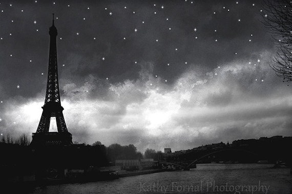 Paris Black and White Photography Eiffel Tower Black White