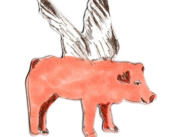 Pigs Can Fly! - Flying Pig Magnet