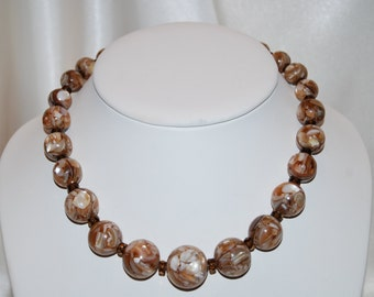 Graduated Crushed Pearl Necklace