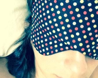 Colorful Polka Dot Sleep Mask / Eye Mask