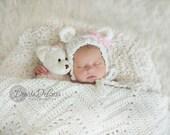 15% SALE  Newborn photo prop, newborn hat, newborn boy, newborn girl, knit newborn hat, newborn props. Available in 3 colors. SUPER soft.