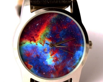 Wrist watch Nebula heart galaxy Hubble space photo, unisex watch, women watch, men wrist watch