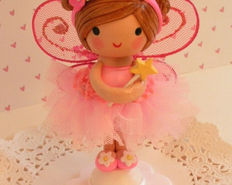 Fairy Party,Fairy Garden ,BirthdayTutu, ToddlerTutu, Cake Topper,First Birthday Heirloom,Fairy, Handmade Doll,Birthday Party,Cake Décor,Pink