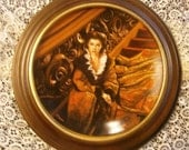 Waiting for Rhett Gone With the Wind Collectible Plate by W S George 1991 with Wooden Frame