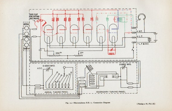 Items Similar To Marconiphone Connection Diagram  1929s