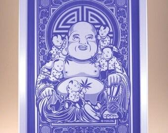 Minutia Buddha Rolling Tray - PURPLE