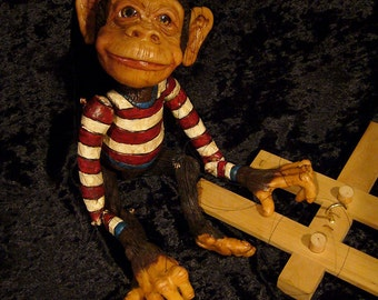 Chimpanzee Marionette. MADE TO ORDER