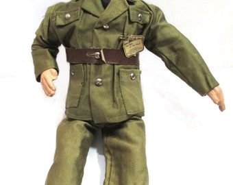 1940s General MacArthur Doll with Original Clothes, Vintage WWII Military, Composition