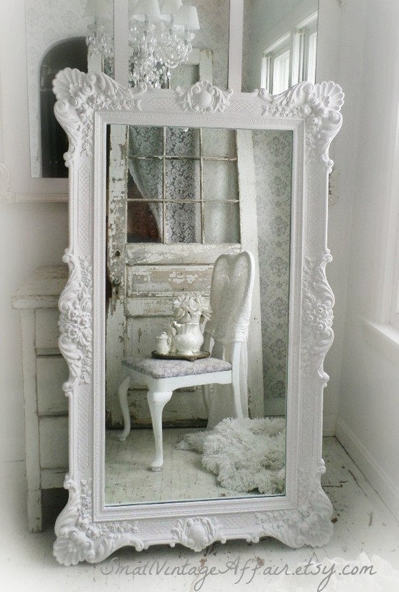 Unavailable listing on etsy for Fancy white mirror