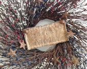 SCOFG, Wreath, Americana, Hand Embroidered, Home Decor