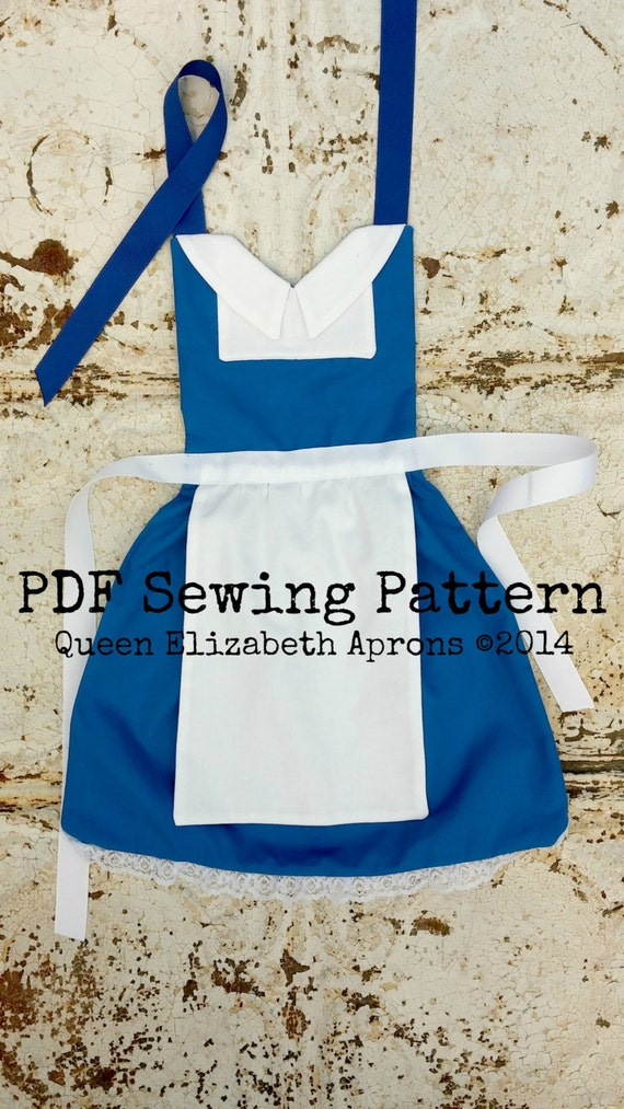 This listing is for a Sewing Pattern to make your own Belle, French Provincial peasant Child Apron.