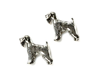 Terrier Cufflinks - Gifts for Men - Anniversary Gift - Handmade - Gift Box Included