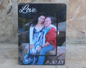 Unique Valentine's Day Gift, Personalized Picture Frame, Custom Wedding Picture Frame, Engagement Gift, Love