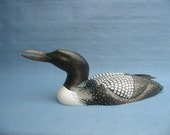 Hand carved Magnum Common Loon Decoy