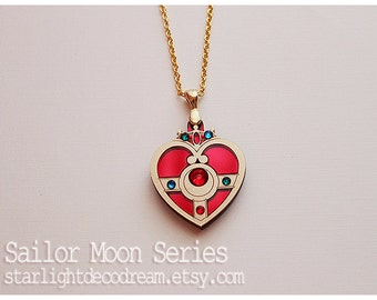 Sailor Moon Cosmic Heart Compact Inspired Acrylic Necklace for Mahou Kei & Magical Girl Fashion
