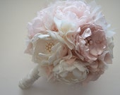 Fabric Bouquet - Large Bouquet - Blush, Champagne and Cream Bouquet - Heirloom Bouquet, Fabric Flower Bouquet, Fabric Bouquet, Keepsake