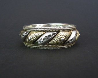 Rare Sun & Moon Antique Berber Bangle Bracelet