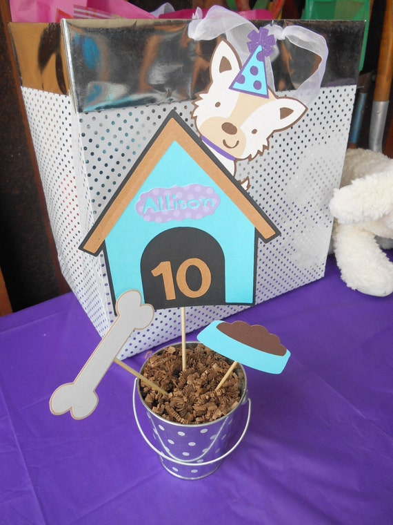 Dog Theme Centerpiece Dog House Birthday Party Baby Shower