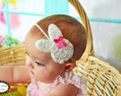 Easter Headband - White Yellow Lavender Easter Bunny Headband -  Easter Hair Clip - Bunny Hair Clip - Headband - Toddler Teenager Headband