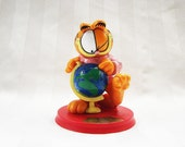 Garfield Figurine as Marco Polo Garfield the Cat Figurine, Explorer of the East