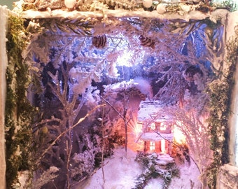 Frozen Enchantment OOAK Magical Miniature World Box