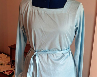 Vintage 1970s | Baby Blue Polyester Shirt | By Charisma | Size Large