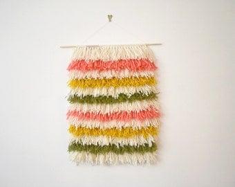 Woven Wall Hanging, Nursery Decor, Modern Weaving, Fiber Art Weaving, Tapestry Wall Hanging