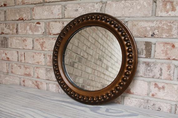 Bronze Wall Mirror: Old Round Mirror Metal Bronze Finish Framed By Carouselandfolk