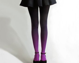 BZR Ombré tights in Fuchsian Violet