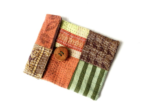 ipad mini sleeve / case, kantha patchwork purse