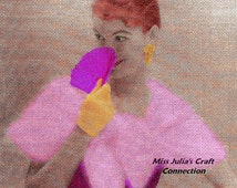 Vintage Woman's Formal Angora Knit Cape Stole 331 PDF Digital Knit Pattern