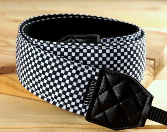 Personalizable Camera Strap - Checker for DSLR and Mirrorless