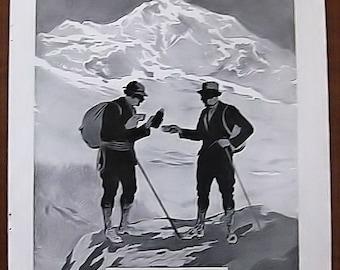 Phoscao, 1931, vintage, ad, original, cocoa, drink, Albert Bertrand, French, free shipping, paper, ephemera