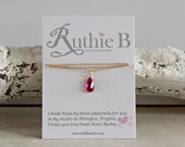Ruby Teardrop Pendant-Jul...